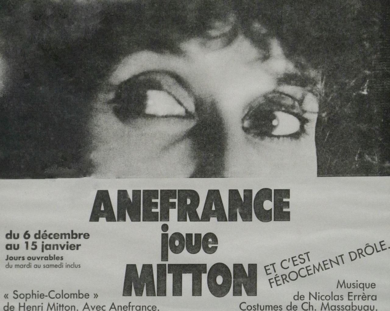 Affiche : Anefrance joue Mitton