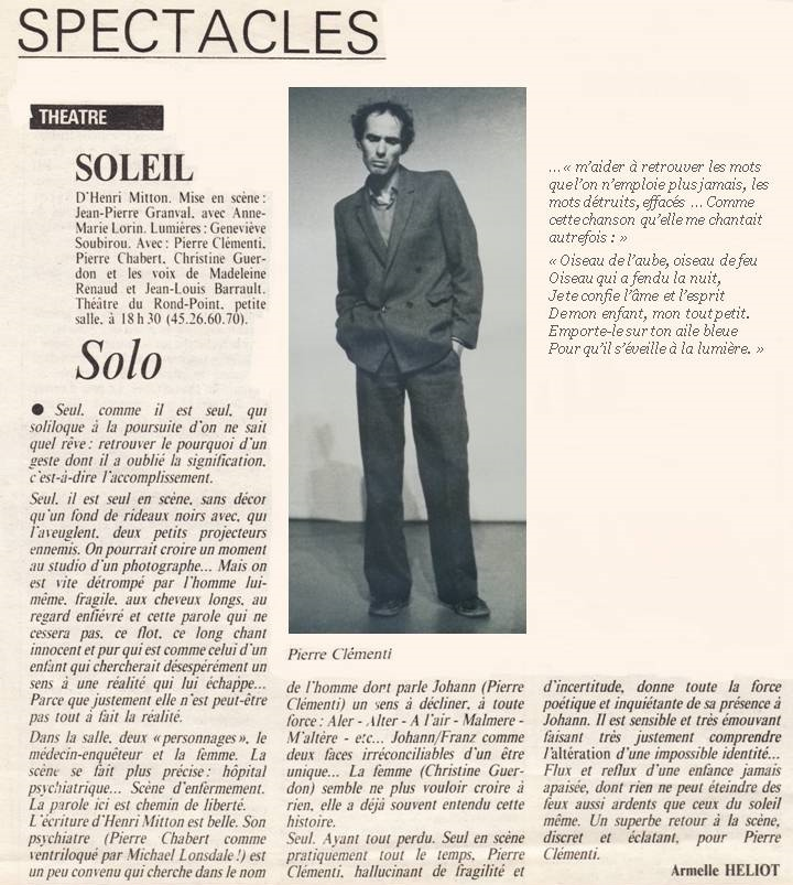 Article : Soleil