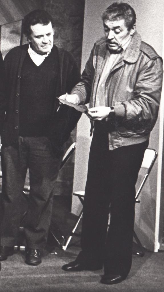 Henri Mitton et Jean Claude Arnaud en janvier 1983