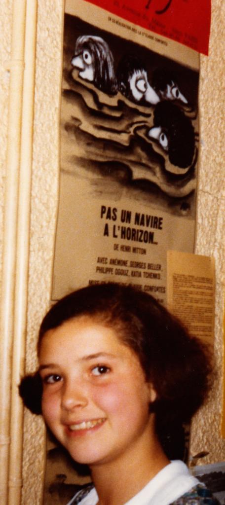 la fille d'Henri Mitton le soir de la premiere  le 25-09-1978