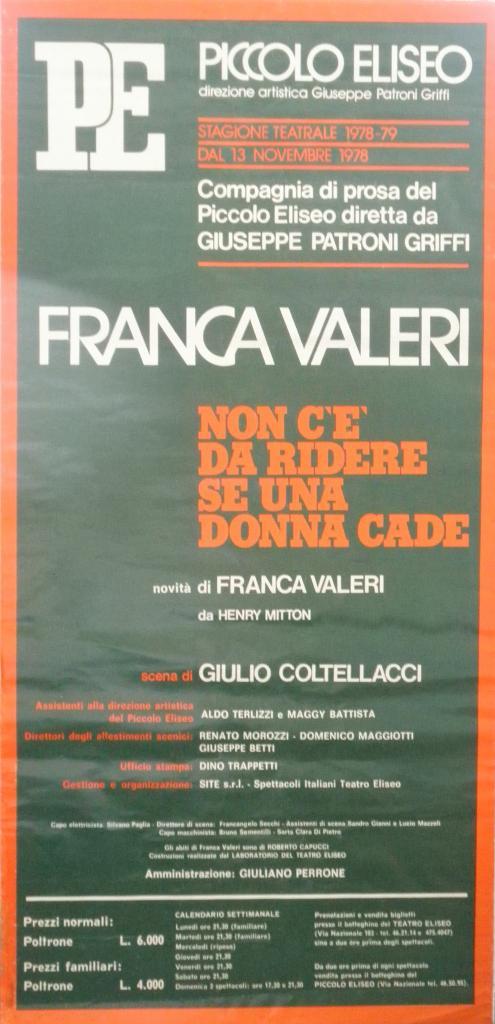 Affiche italienne : Ne riez jamais d'une femme qui tombe
