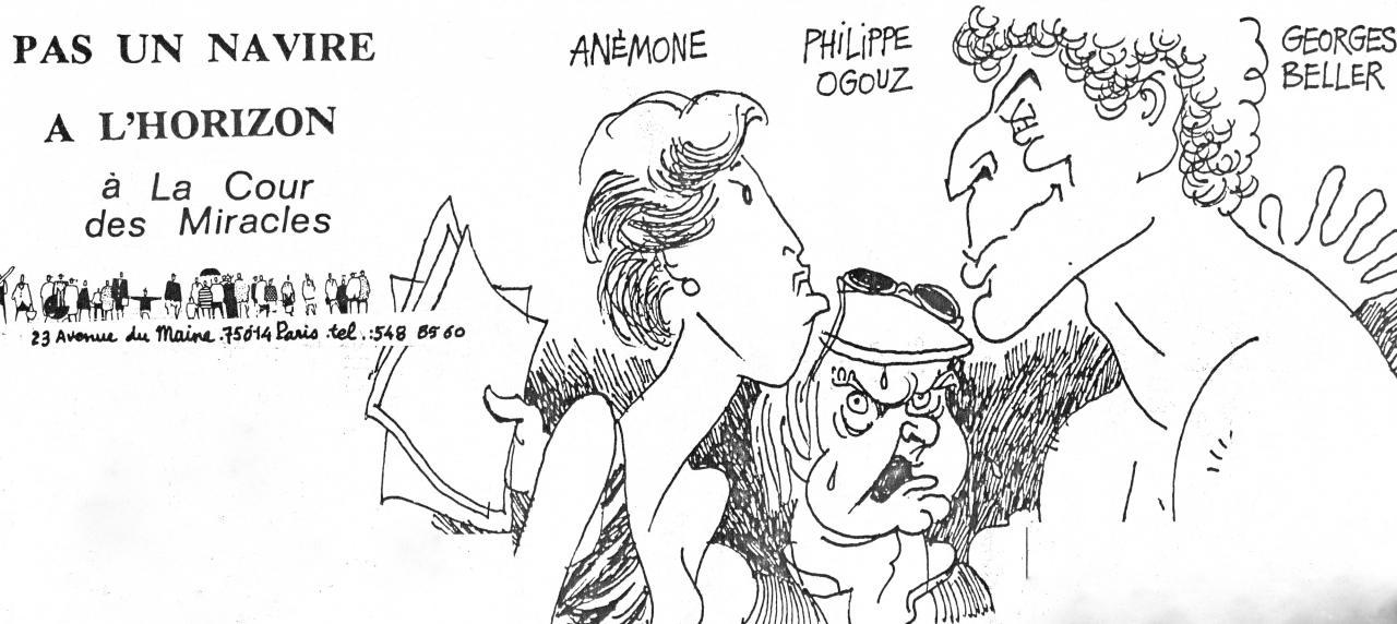 Pas un navire à l'horizon : Caricature de Cabu